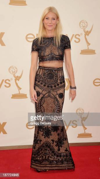 Gwyneth Paltrow arrive at the Academy of Television Arts Sciences 63rd Primetime Emmy Awards at Nokia Theatre LA Live on September 18 2011 in Los...