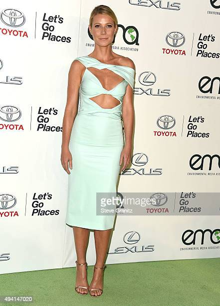 Gwyneth Paltrow arrives at the 25th Environmental Media Awards at Warner Bros Studios on October 24 2015 in Burbank California