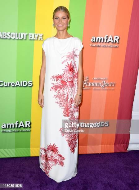 Gwyneth Paltrow arrives at the amfAR Gala Los Angeles at Milk Studios on October 10 2019 in Los Angeles California