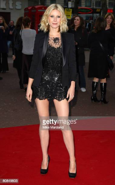 Gwyneth Paltrow arrives at the UK Premier of 'Iron Man' at the Odeon Leicester Square on April 24 2008 in London England