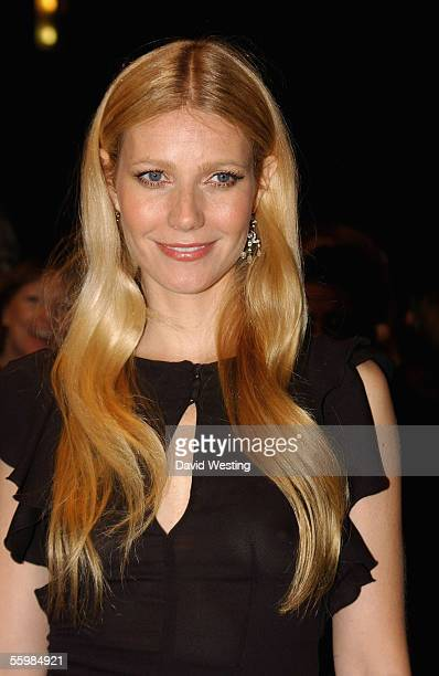 Gwyneth Paltrow arrives at the UK Premiere of Proof as part of The Times BFI London Film Festival at the Odeon West End on October 22 2005 in London...