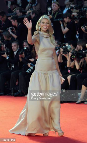Gwyneth Paltrow attend the 'Contagion' premiere during the 68th Venice Film Festival at Palazzo del Cinema on September 3, 2011 in Venice, Italy.