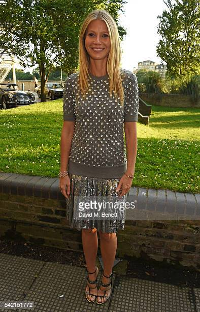 Gwyneth Paltrow attends a private dinner hosted by Michael Kors to celebrate the new Regent Street Flagship store opening at The River Cafe on June...