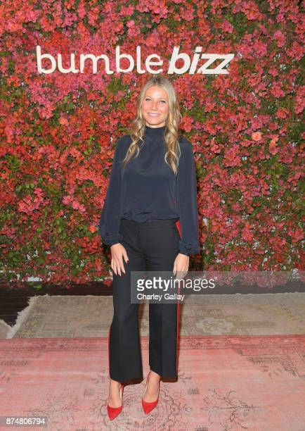 Gwyneth Paltrow attends Bumble Bizz Los Angeles Launch Dinner At Nobu Malibu at Nobu Malibu on November 15 2017 in Malibu California