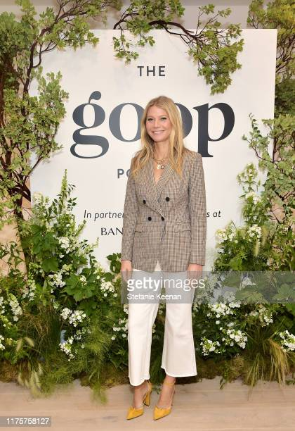 Gwyneth Paltrow attends Gwyneth Paltrow And Kerry Washington Host A Live Episode Of The goop Podcast with Banana Republic at Spring Place on...