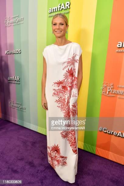 Gwyneth Paltrow attends the 2019 amfAR Gala Los Angeles at Milk Studios on October 10 2019 in Los Angeles California