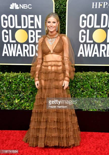 Gwyneth Paltrow attends the 77th Annual Golden Globe Awards at The Beverly Hilton Hotel on January 05 2020 in Beverly Hills California