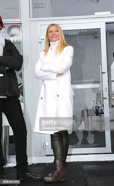 Gwyneth Paltrow attends the Audi driving experience during the Audi Hahnenkamm race weekend on January 23 2016 in Kitzbuehel Austria