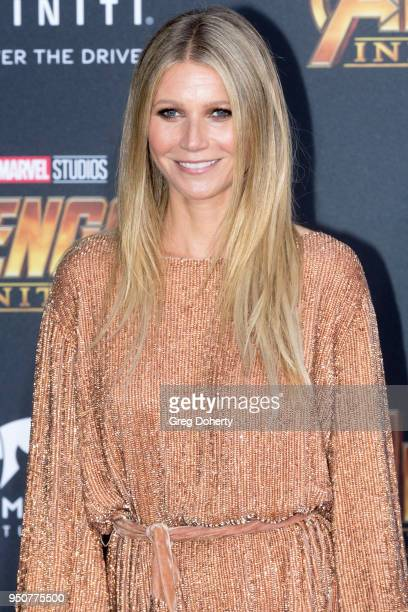 Gwyneth Paltrow attends the Avengers Infinity War World Premiere on April 23 2018 in Los Angeles California