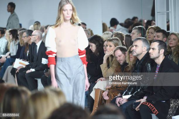Gwyneth Paltrow attends the Calvin Klein Collection Front Row during New York Fashion Week on February 10 2017 in New York City