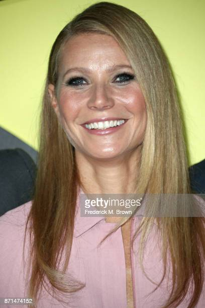 Gwyneth Paltrow attends the celebration of the reopening of the LACOSTE Rodeo Drive Boutique at Sheats Goldstein Residence on November 7 2017 in Los...