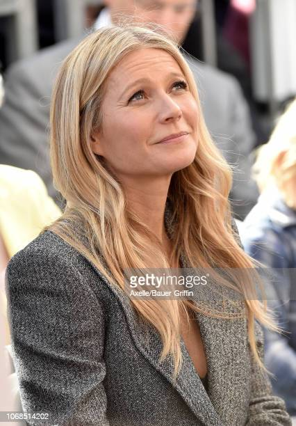 Gwyneth Paltrow attends the ceremony honoring Ryan Murphy with star on the Hollywood Walk of Fame on December 4, 2018 in Hollywood, California.