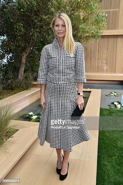 Gwyneth Paltrow attends the Chanel Spring Summer 2016 show as part of Paris Fashion Week on January 26 2016 in Paris France