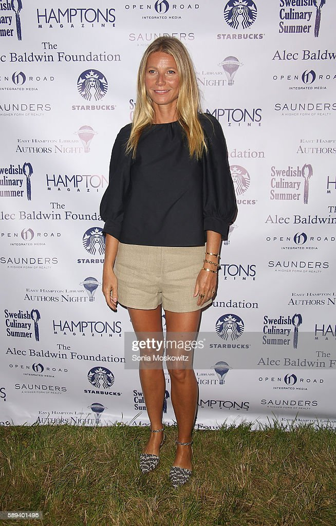 Gwyneth Paltrow attends the East Hampton Library's 12th Annual Authors Night Benefit on August 13, 2016 in East Hampton, New York.