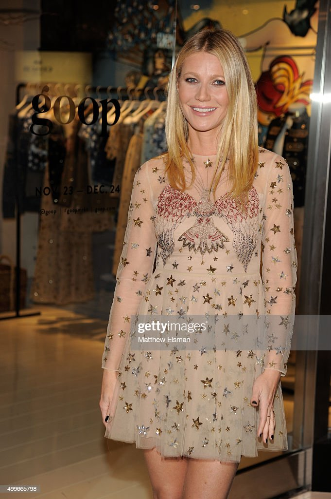 Gwyneth Paltrow attends the goop mrkt grand opening event at The Shops at Columbus Circle on December 2, 2015 in New York City.