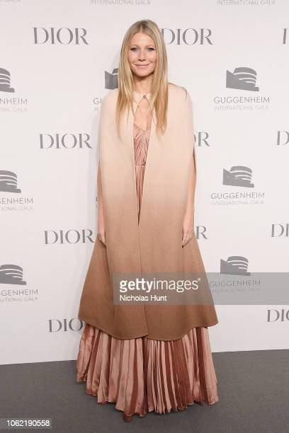 Gwyneth Paltrow attends the Guggenheim International Gala Dinner made possible by Dior at Solomon R Guggenheim Museum on November 15 2018 in New York...