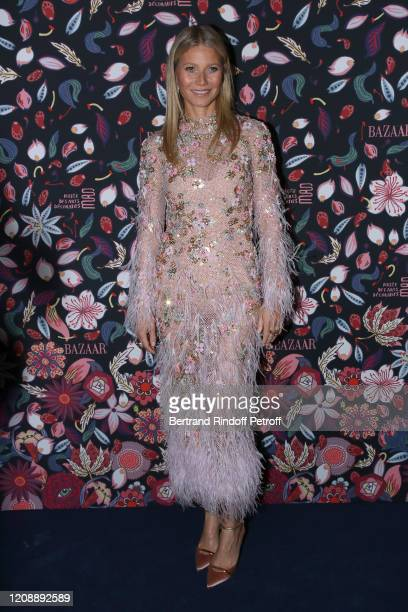 Gwyneth Paltrow attends the Harper's Bazaar Exhibition as part of the Paris Fashion Week Womenswear Fall/Winter 2020/2021 At Musee Des Arts...