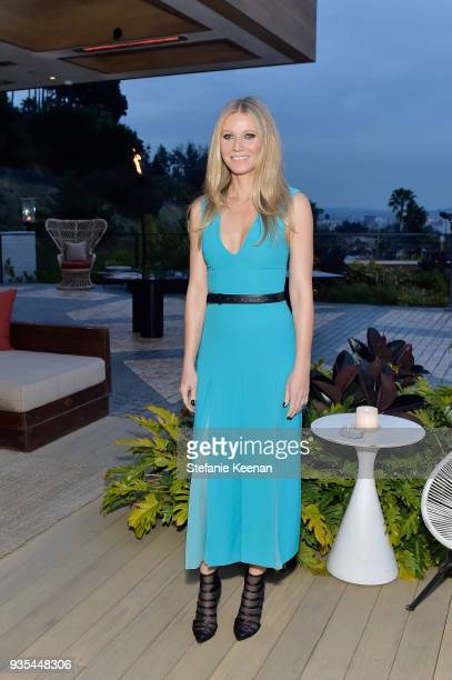 Gwyneth Paltrow attends The Hollywood Reporter and Jimmy Choo Power Stylists Dinner on March 20 2018 in Los Angeles California