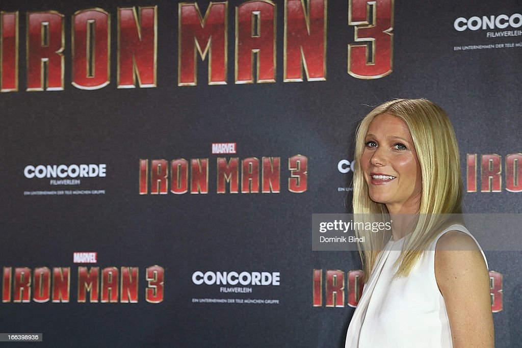 Gwyneth Paltrow attends the 'Iron Man 3' Photocall at Hotel Bayerischer Hof on April 12, 2013 in Munich, Germany.