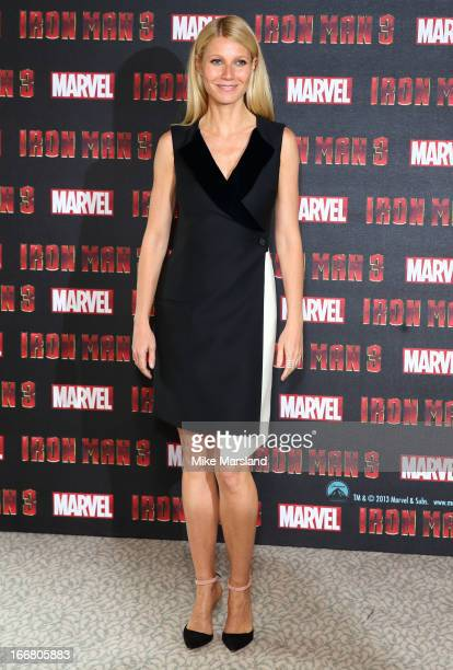 Gwyneth Paltrow attends the Iron Man 3 photocall at The Dorchester on April 17 2013 in London England