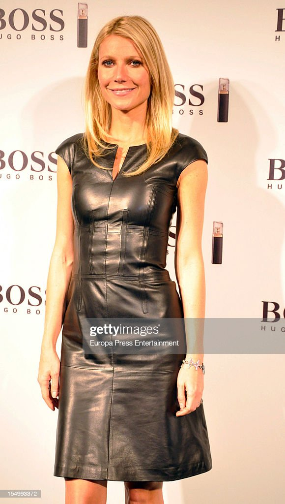Gwyneth Paltrow attends the launch of 'Boss Nuit Pour Femme' fragrance on October 29, 2012 in Madrid, Spain.
