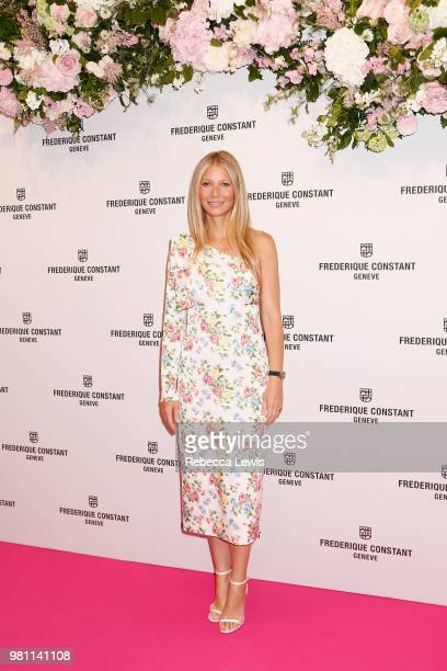 Gwyneth Paltrow attends the launch of 'Gwyneth Paltrow x Frederique Constant' Ladies Automatic collection at the Design Museum on June 21 2018 in...