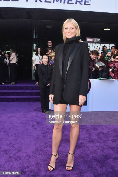 Gwyneth Paltrow attends the Los Angeles World Premiere of Marvel Studios' Avengers Endgame at the Los Angeles Convention Center on April 23 2019 in...