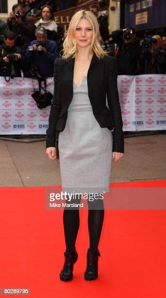 Gwyneth Paltrow attends The Prince's Trust and RBS Celebrate Success Awards held at the Odeon Leicester Square on March 18 2008 in London England