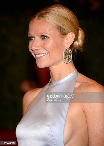 Gwyneth Paltrow attends the Schiaparelli And Prada Impossible Conversations Costume Institute Gala at the Metropolitan Museum of Art on May 7 2012 in...