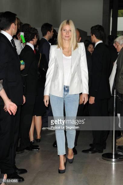 Gwyneth Paltrow attends the Stella McCartney Pret a Porter show as part of the Paris Womenswear Fashion Week Spring/Summer 2010 at Palais De Tokyo on...