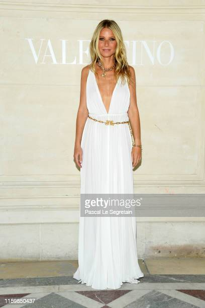 Gwyneth Paltrow attends the Valentino Haute Couture Fall/Winter 2019 2020 show as part of Paris Fashion Week on July 03 2019 in Paris France
