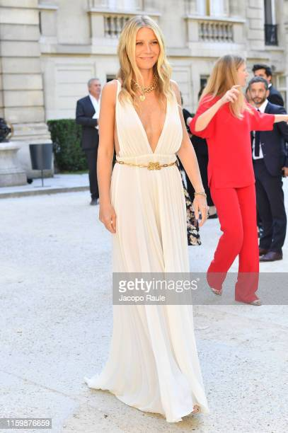 Gwyneth Paltrow attends the Valentino Haute Couture Fall/Winter 2019 2020 show as part of Paris Fashion Week on July 03, 2019 in Paris, France.
