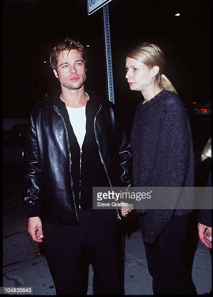 Gwyneth Paltrow Brad Pitt during David Bowie After Show Party in Hollywood California United States