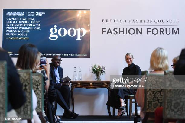 Gwyneth Paltrow, CEO & Founder, goop in conversation with Edward Enninful, Editor-in-Chief, British Vogue during the London Fashion Week Men's...