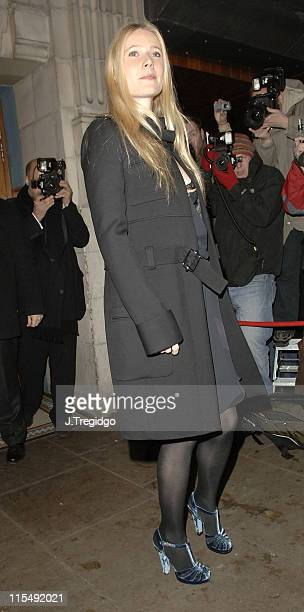 Gwyneth Paltrow during Grand Classics 'Annie Hall' Screening December 12 2005 at The Electric Cinema in London Great Britain