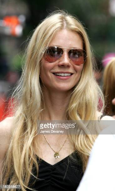 Gwyneth Paltrow during Gwyneth Paltrow CoDirects Short Film Dealbreakers August 5 2005 at Midtown Manhattan in New York City New York United States