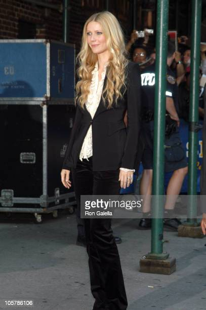 Gwyneth Paltrow during Gwyneth Paltrow Visits the 'Late Show with David Letterman' September 7 2005 at Ed Sullivan Theatre in New York City New York...