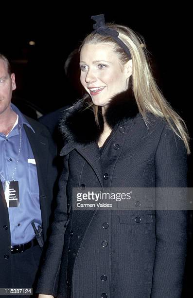 Gwyneth Paltrow during Saturday Night Live After Party November 10 2001 at Sarafina in New York City New York United States