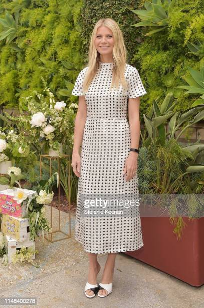 Gwyneth Paltrow hosts a Goop morning in celebration of first international campaign with Flow Alkaline Spring Water at The Smog Shoppe on June 6 2019...
