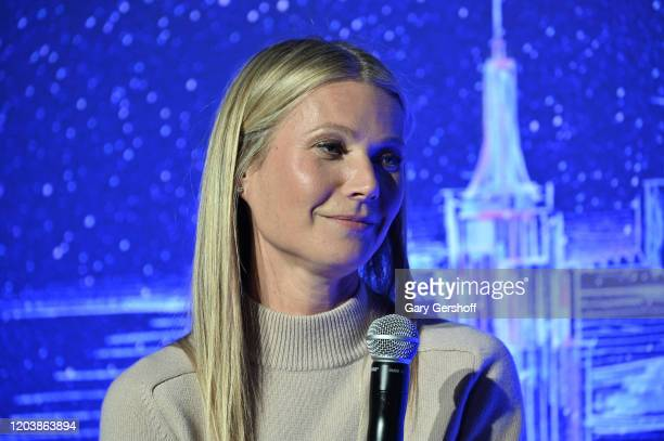 Gwyneth Paltrow hosts a panel discussion at the JVP International Cyber Center grand opening on February 03 2020 in New York City
