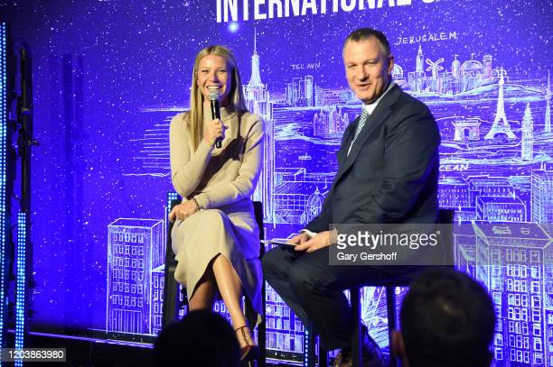 Gwyneth Paltrow hosts a panel discussion at the JVP International Cyber Center grand opening with founder Executive Chairman of Jerusalem Venture...