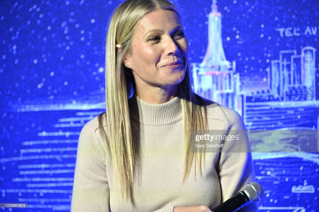 Gwyneth Paltrow Hosts Panel Discussion At JVP International Cyber Center Grand Opening : News Photo