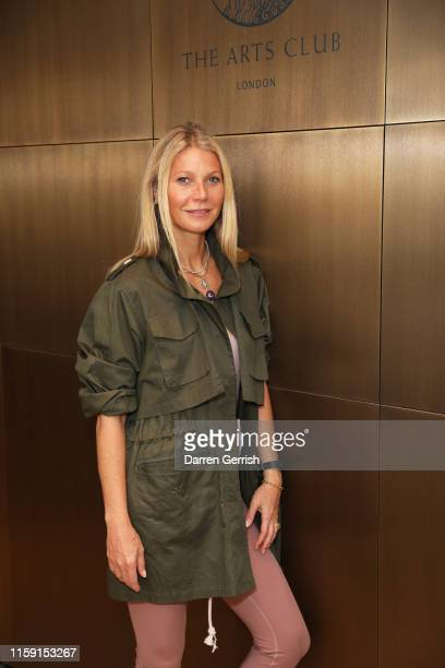 Gwyneth Paltrow hosts goop event at the Lanserhof at The Arts Club wearing G Label on June 30 2019 in London England