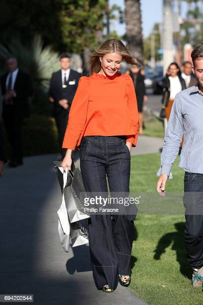 Gwyneth Paltrow is seen at goopin@Nordstrom at the Grove on June 8 2017 in Los Angeles California