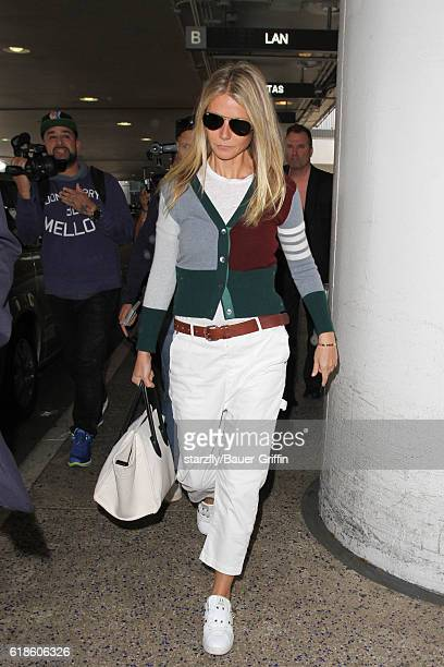 Gwyneth Paltrow is seen at LAX on October 27 2016 in Los Angeles California