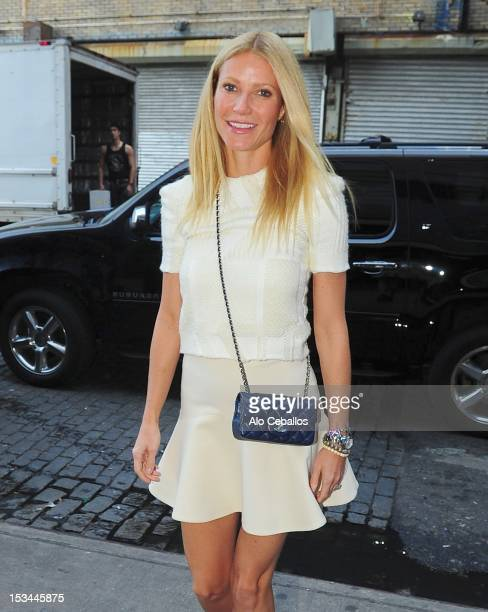 Gwyneth Paltrow is seen in the Meat Packing District Manhattan on October 5 2012 in New York City