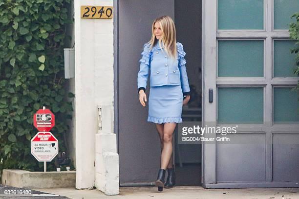 Gwyneth Paltrow is seen on January 24 2017 in Los Angeles California
