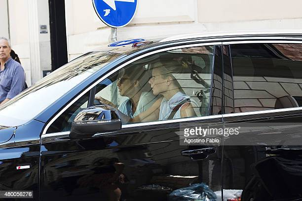 Gwyneth Paltrow is seen with Brad Falchuk in Rome to attend fashion designer Valentino Garavani event 'Memorabilia Roma' is seen on July 9 2015 in...