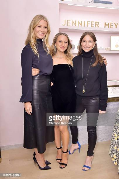 Gwyneth Paltrow Jennifer Meyer and Ellen Meyer attend Jennifer Meyer Celebrates First Store Opening in Palisades Village At The Draycott With Gwyneth...