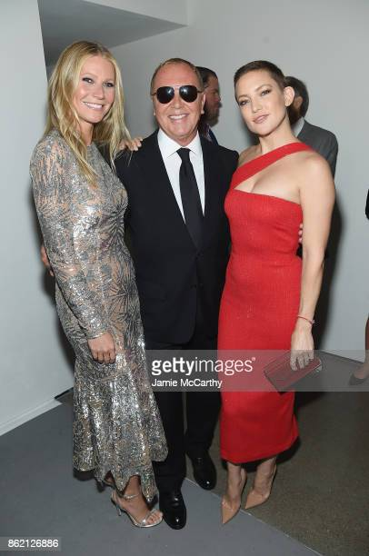 Gwyneth Paltrow Michael Kors and Kate Hudson attend the 11th Annual Golden Heart Awards benefiting God's Love We Deliver on October 16 2017 in New...